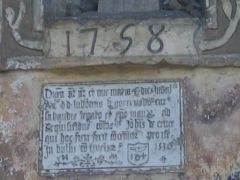 Plaque explicative sur le mur de la chapelle des Villards
